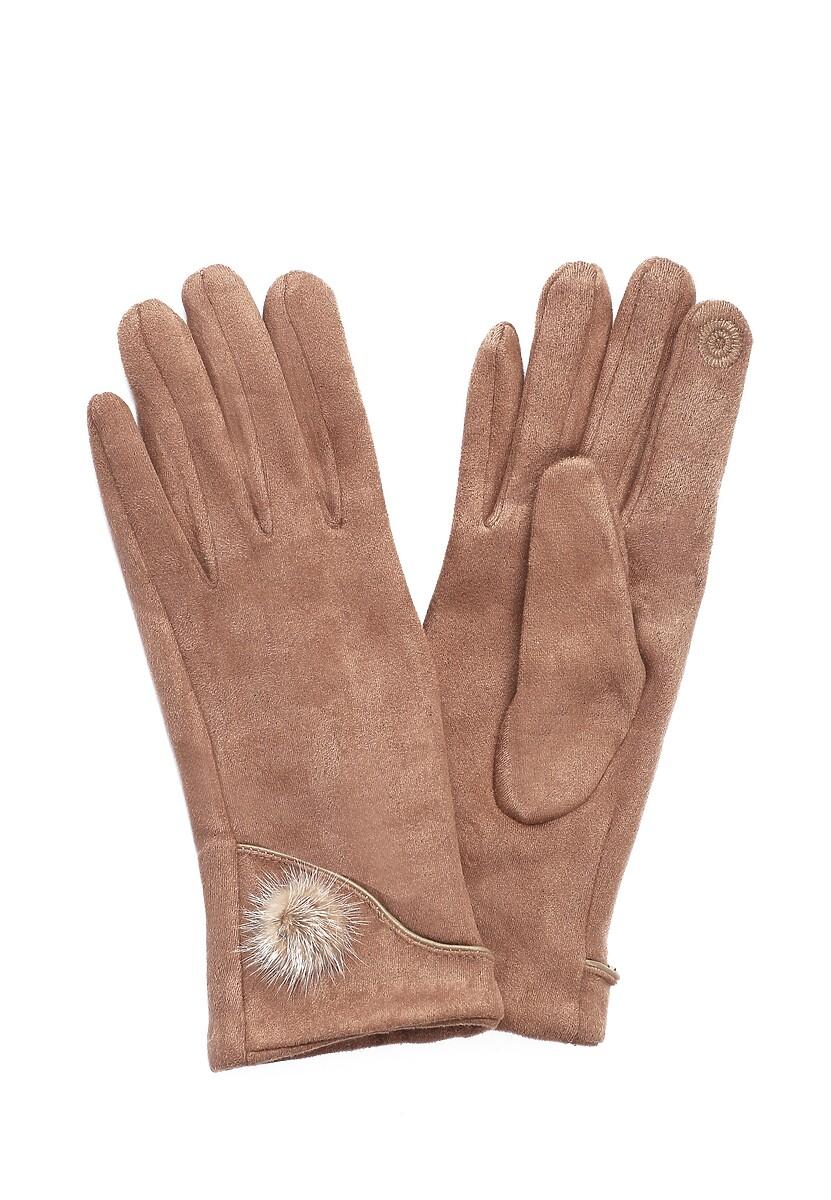 Ciemnobeżowe Rękawiczki Aspiration