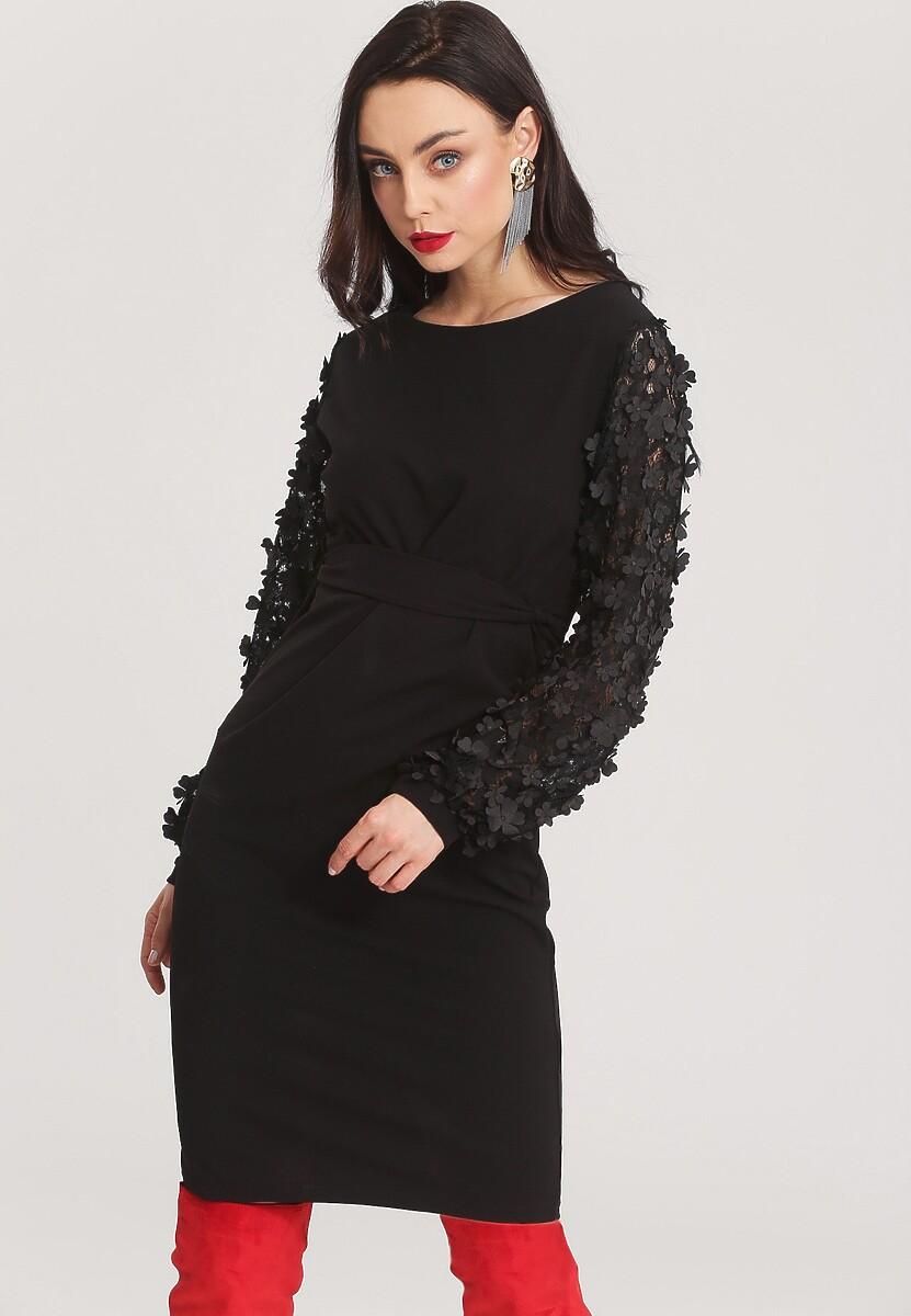 Czarna Sukienka Melting