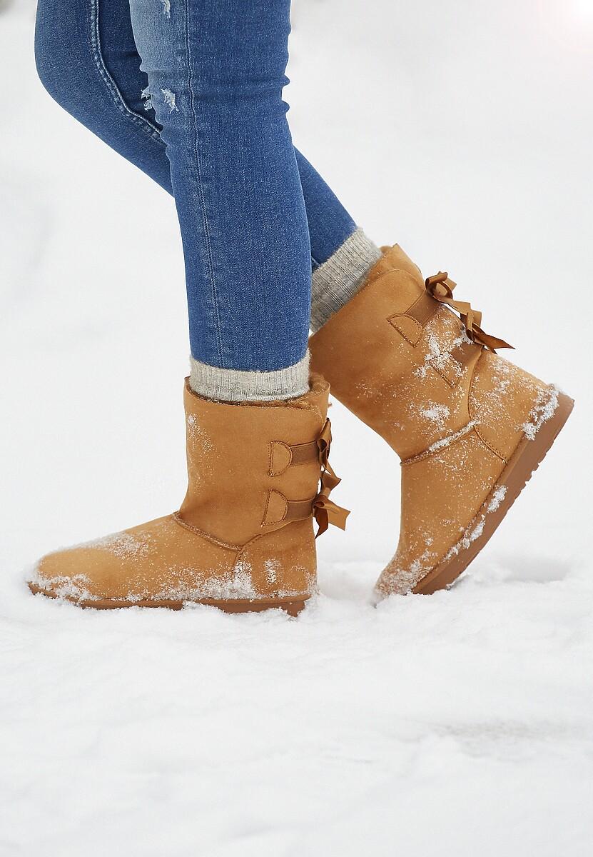 Camelowe Śniegowce Saunter