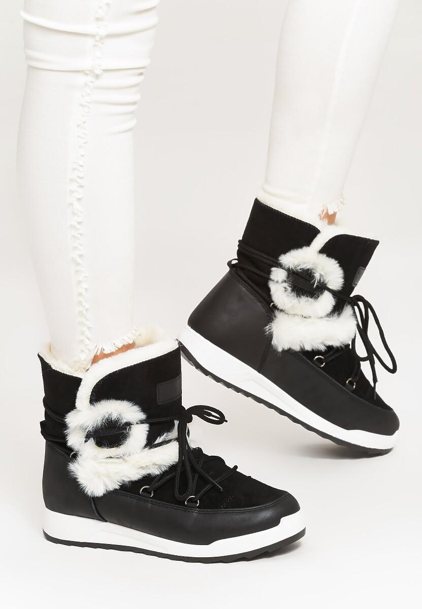 Czarne Śniegowce Snappy