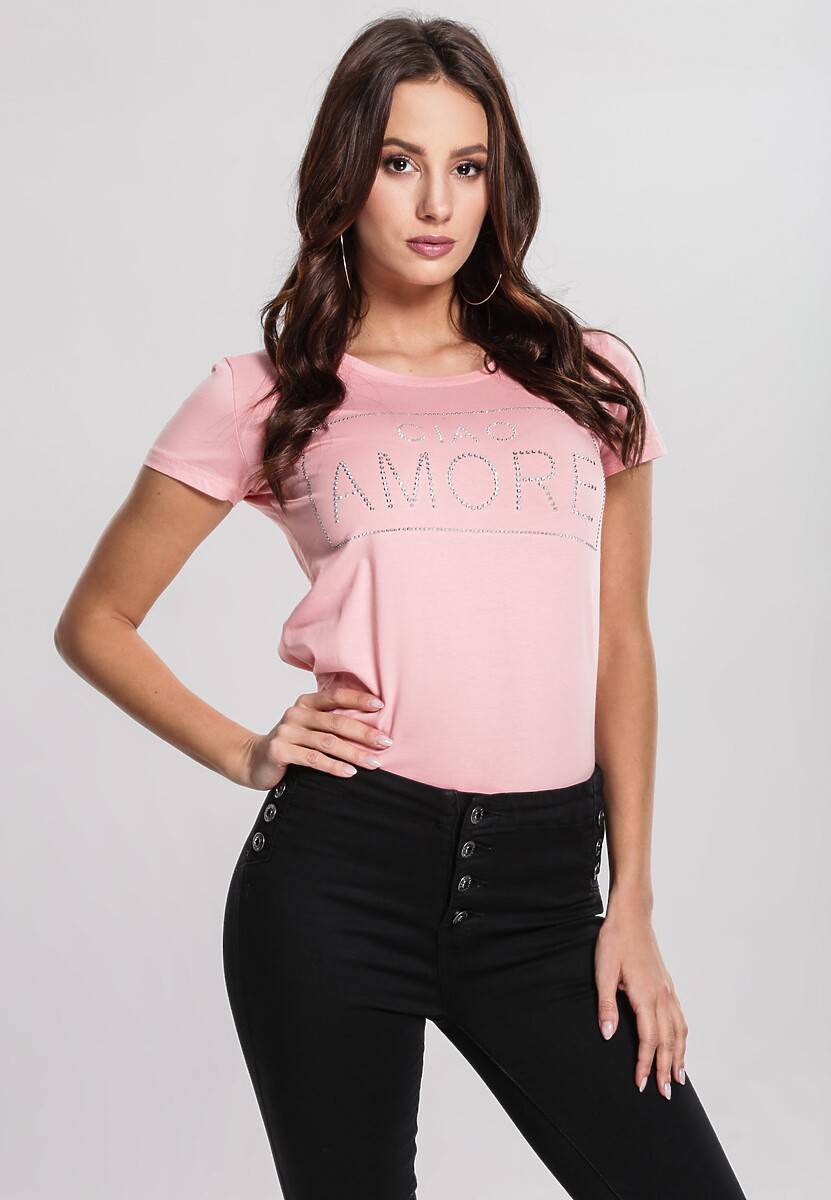 Różowy T-shirt Mega Factor