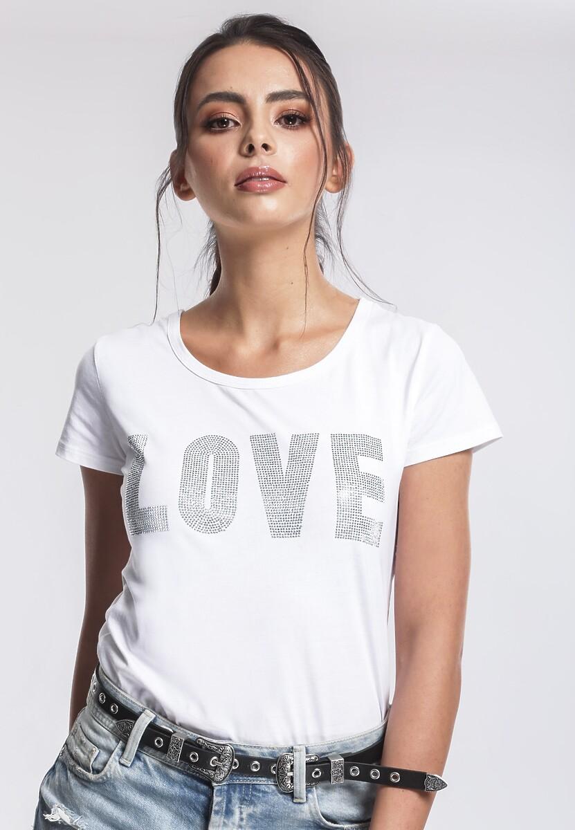 Biały T-shirt Puzzling