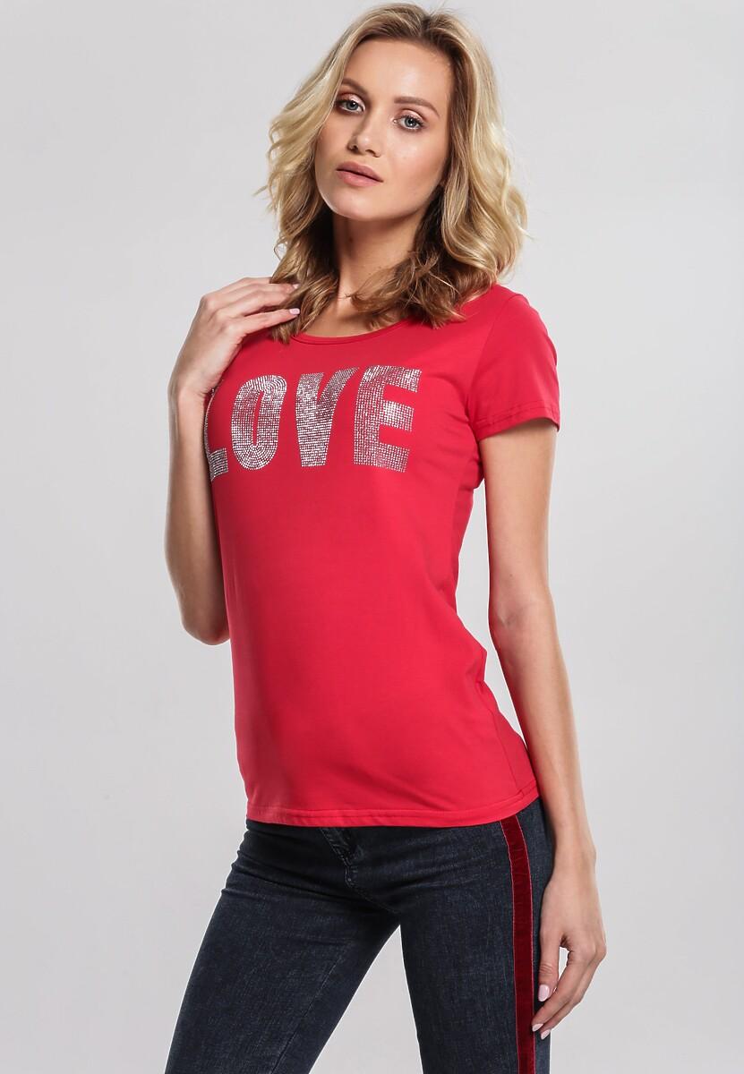 Czerwony T-shirt Puzzling