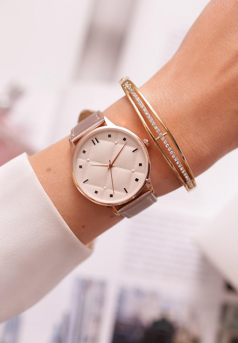 Beżowy Zegarek Look Like