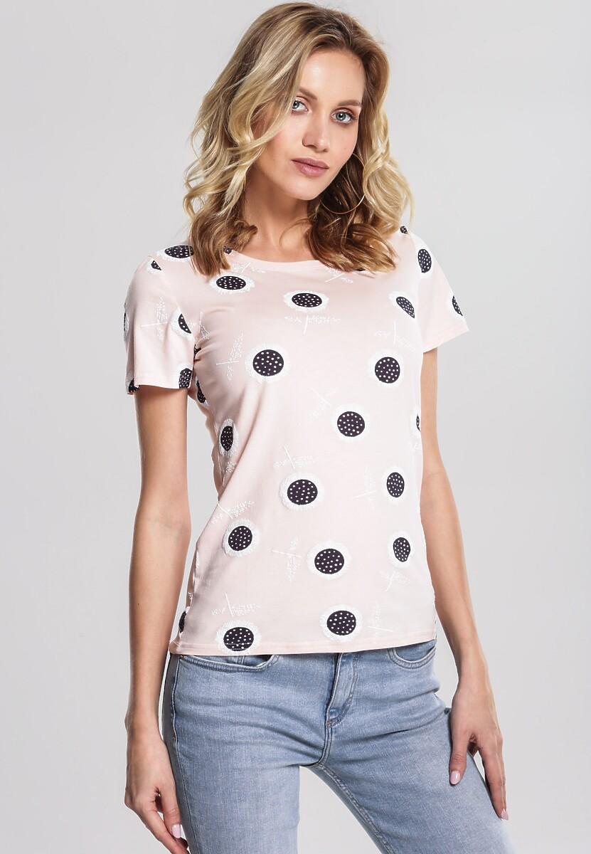 Różowy T-shirt Able