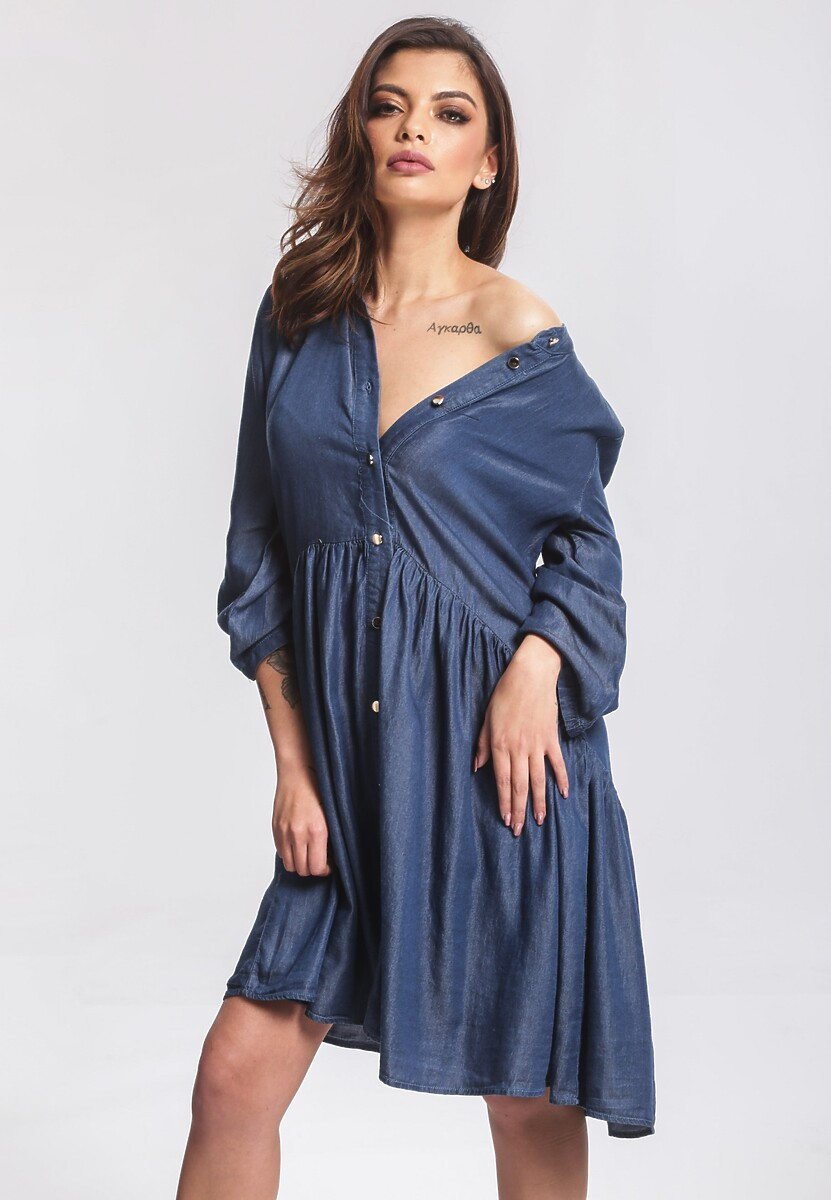 Granatowa Sukienka Extramundane