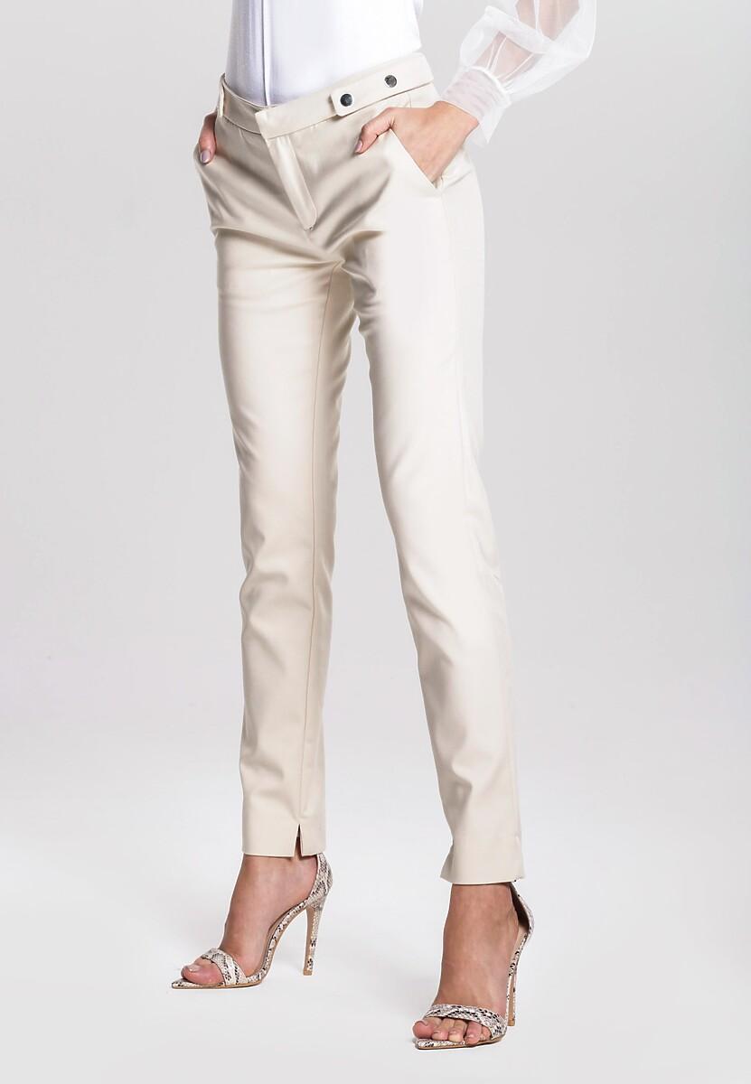 Jasnobeżowe Spodnie Say So