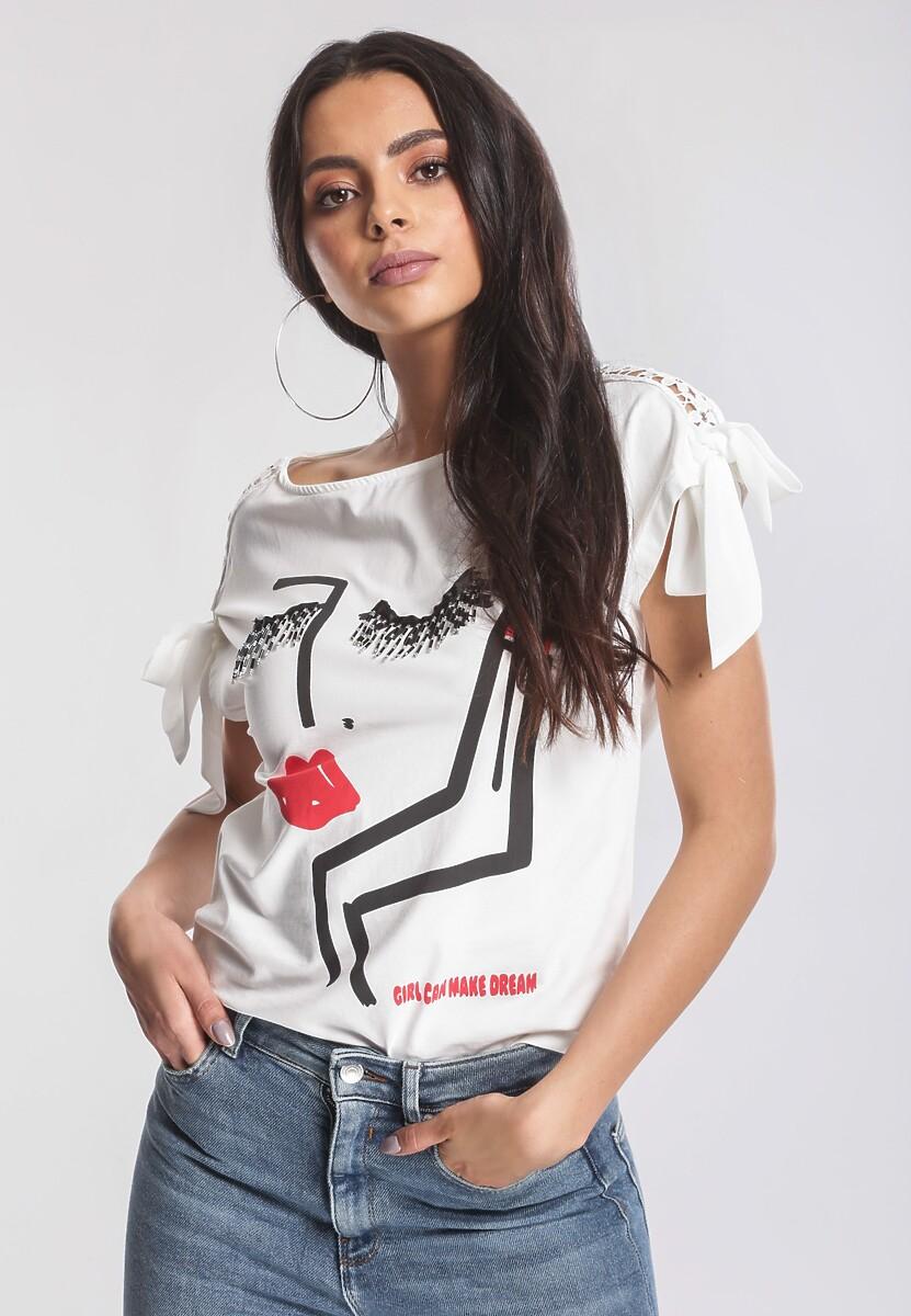 Biały T-shirt Sleek