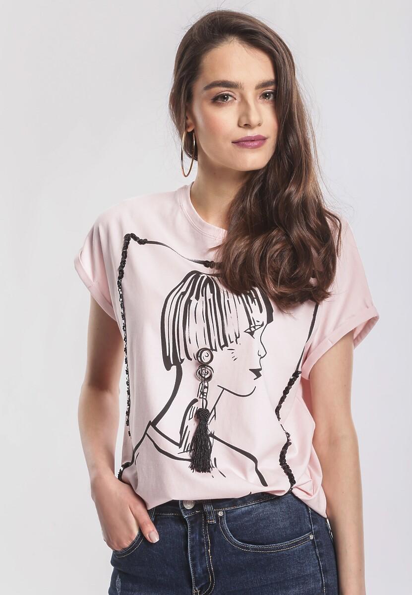 Różowy T-shirt Big