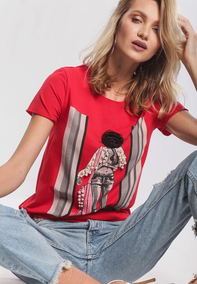 Koralowy T-shirt Go Astray