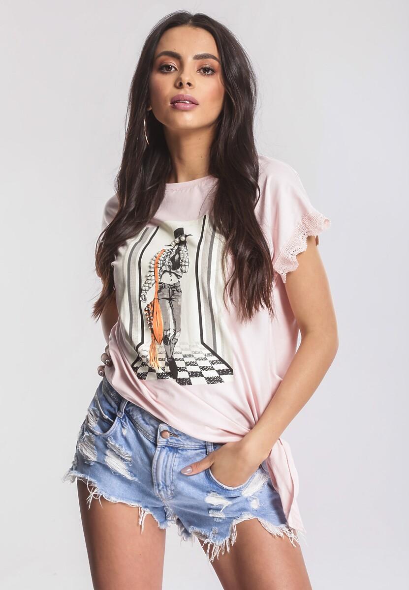 Różowy T-shirt Unquestionable