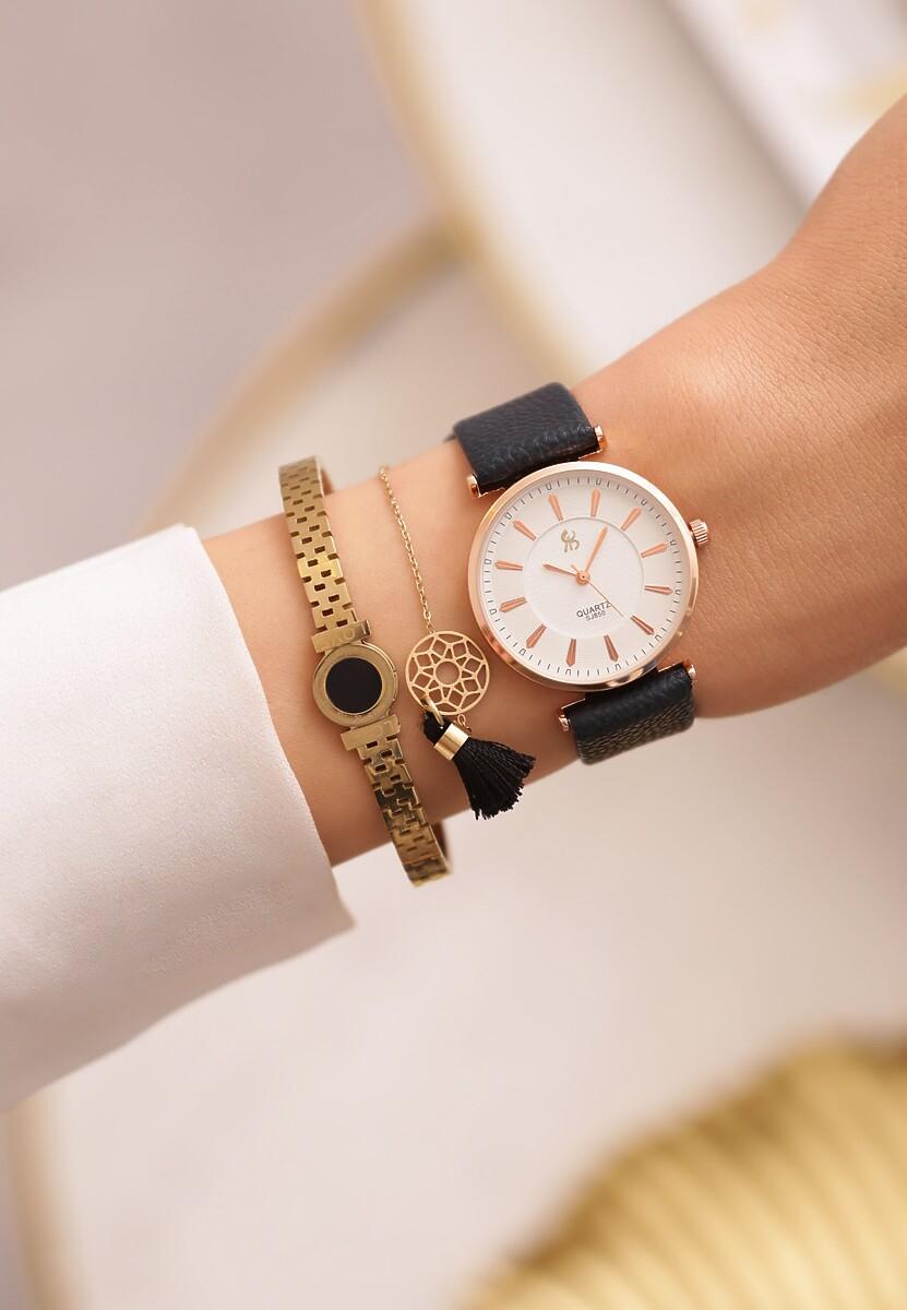 Czarno-Różowy Zegarek Classic Timer