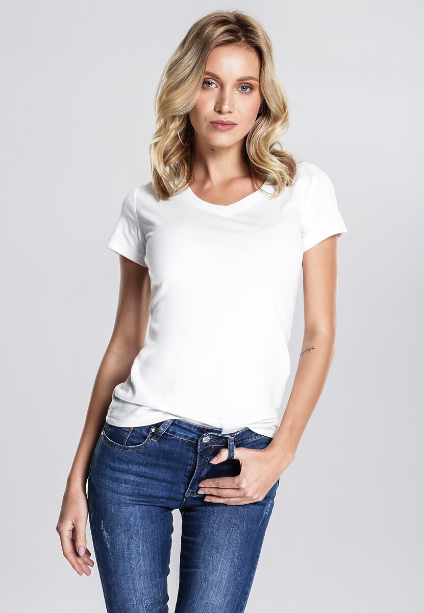 Biały T-shirt Glaringly