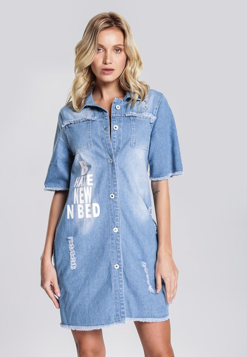 Niebieska Sukienka Get-Up-And-Go