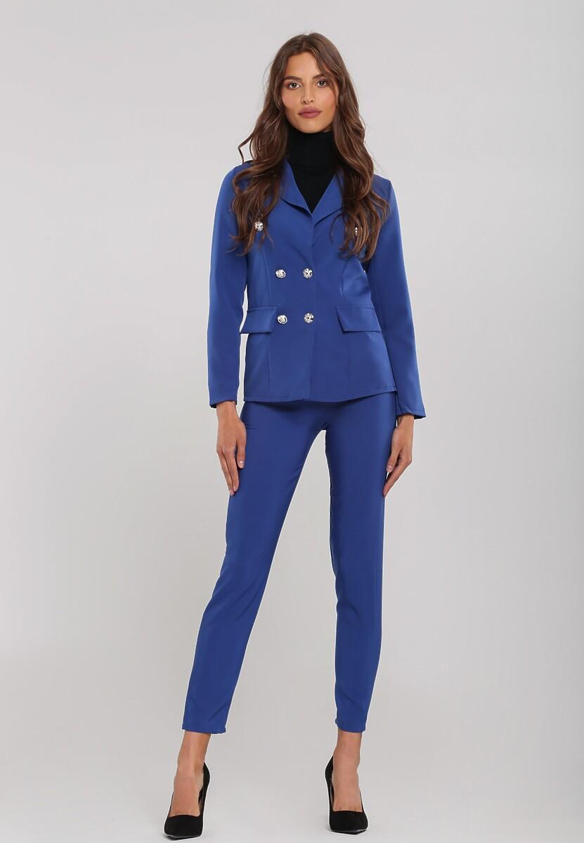 Niebieski Garnitur Elegance