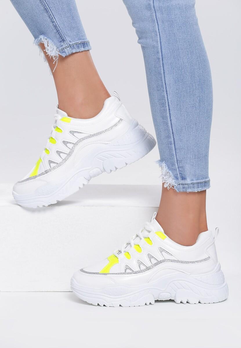 Żółte Sneakersy Decorated