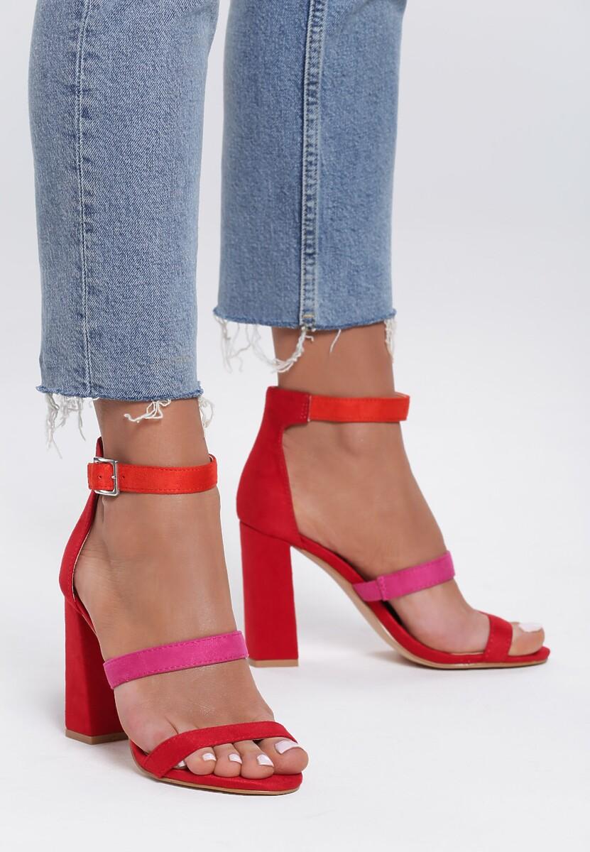 Czerwone Sandały Luxurious