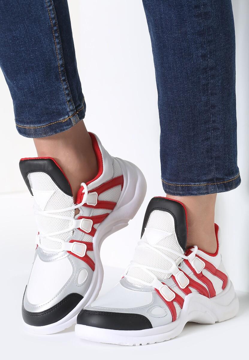 Biało-Czerwone Sneakersy Life Must Go On