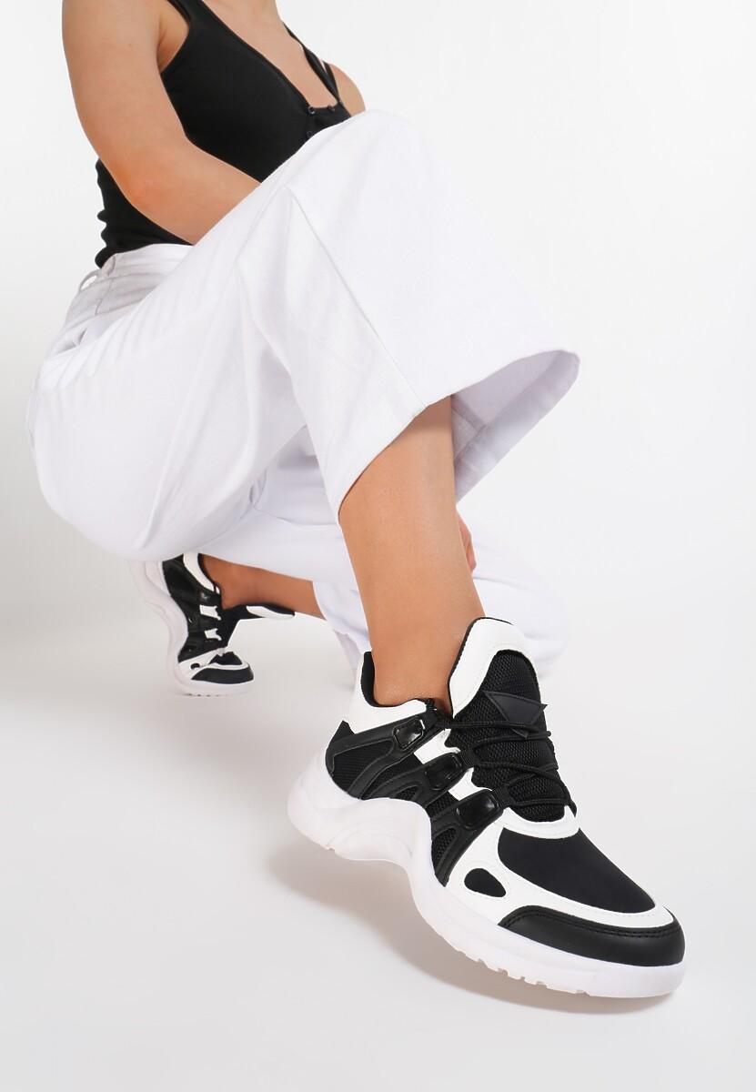 Biało-Czarne Sneakersy Life Must Go On