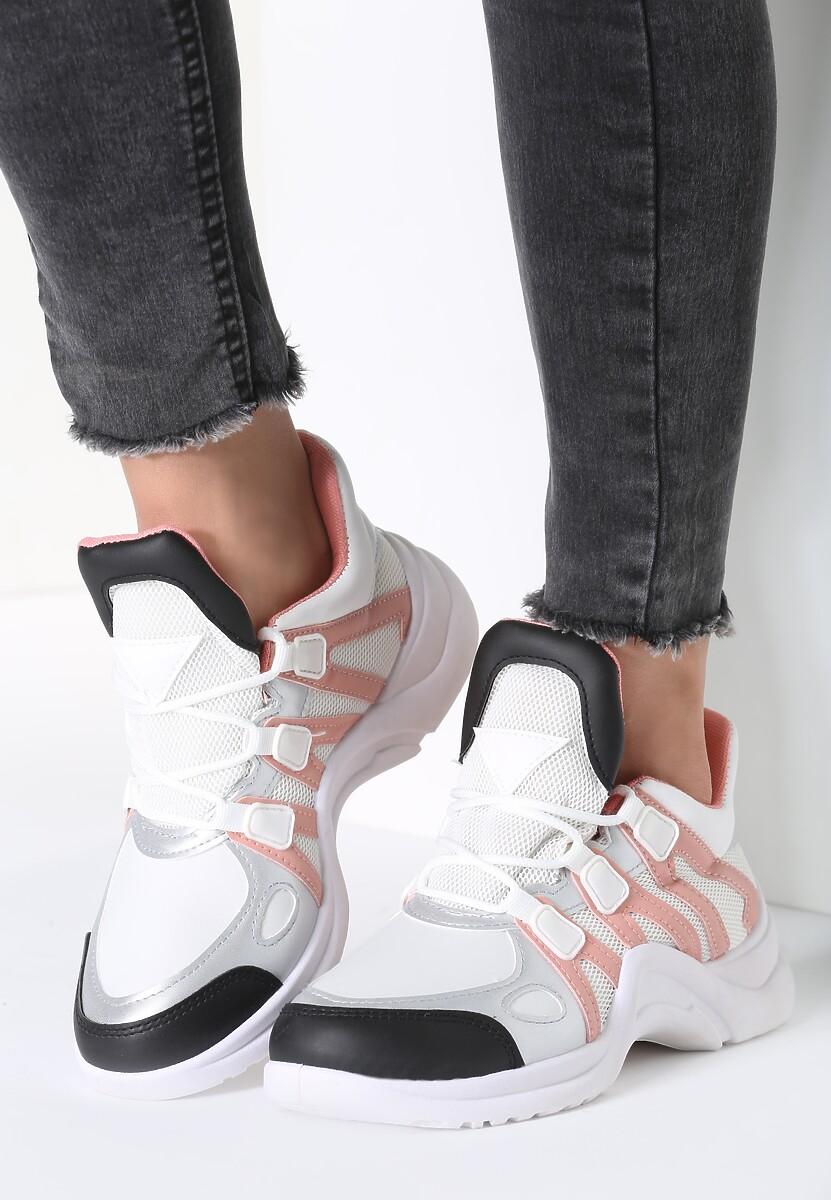 Biało-Różowe Sneakersy Life Must Go On