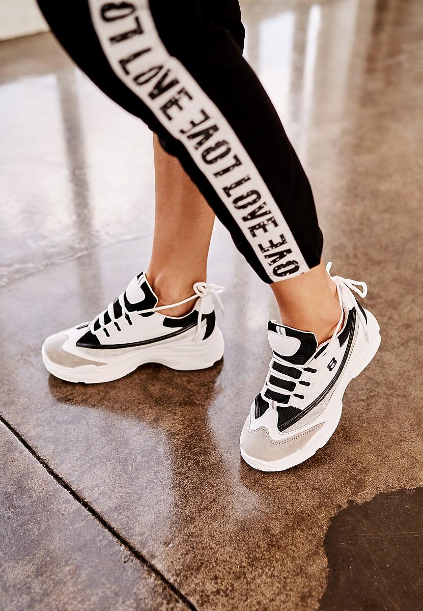 Biało-Czarne Buty Sportowe Stretch Right Up