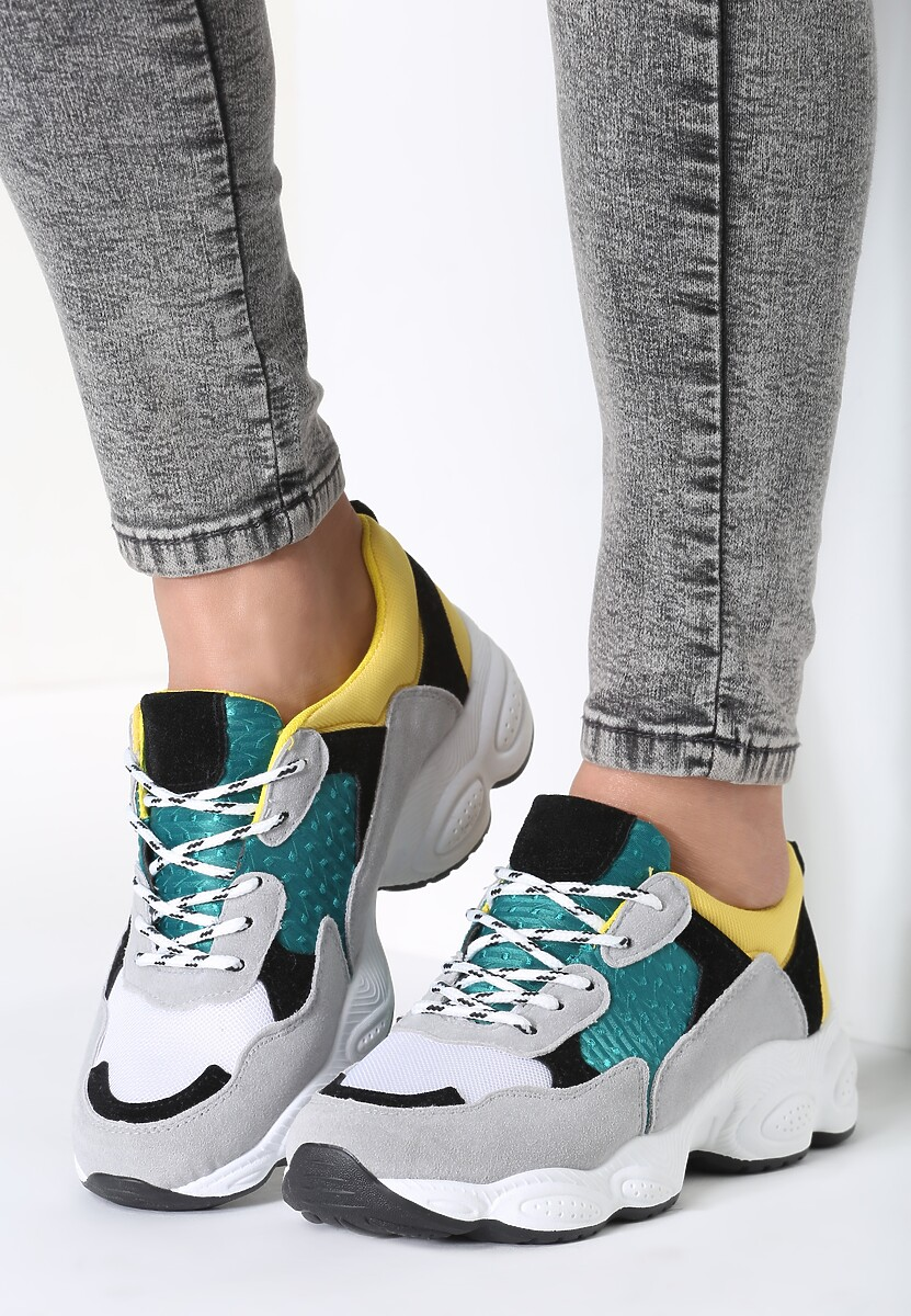 Szaro-Żółte Sneakersy Now Me!