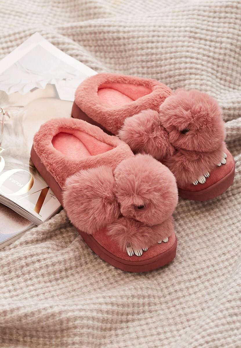 Różowe Kapcie Fluffy Tail