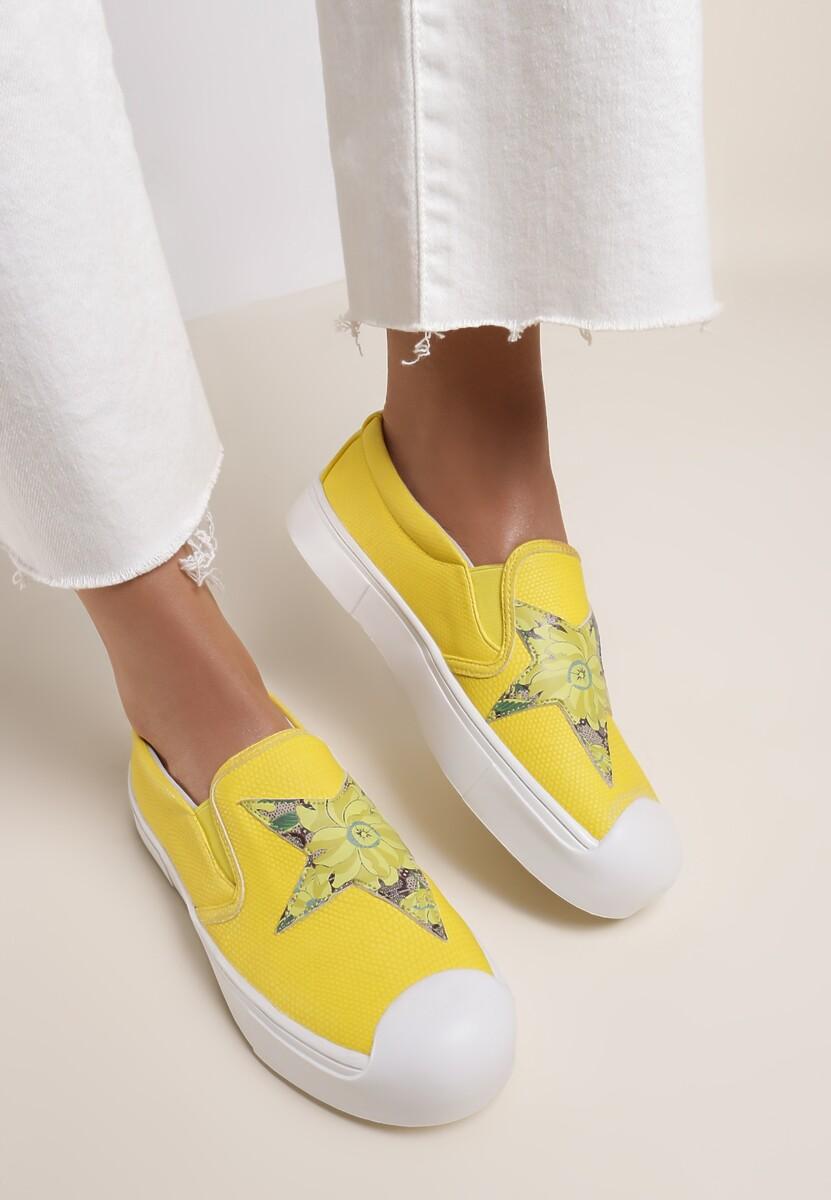 Żółte Slip On Paisley