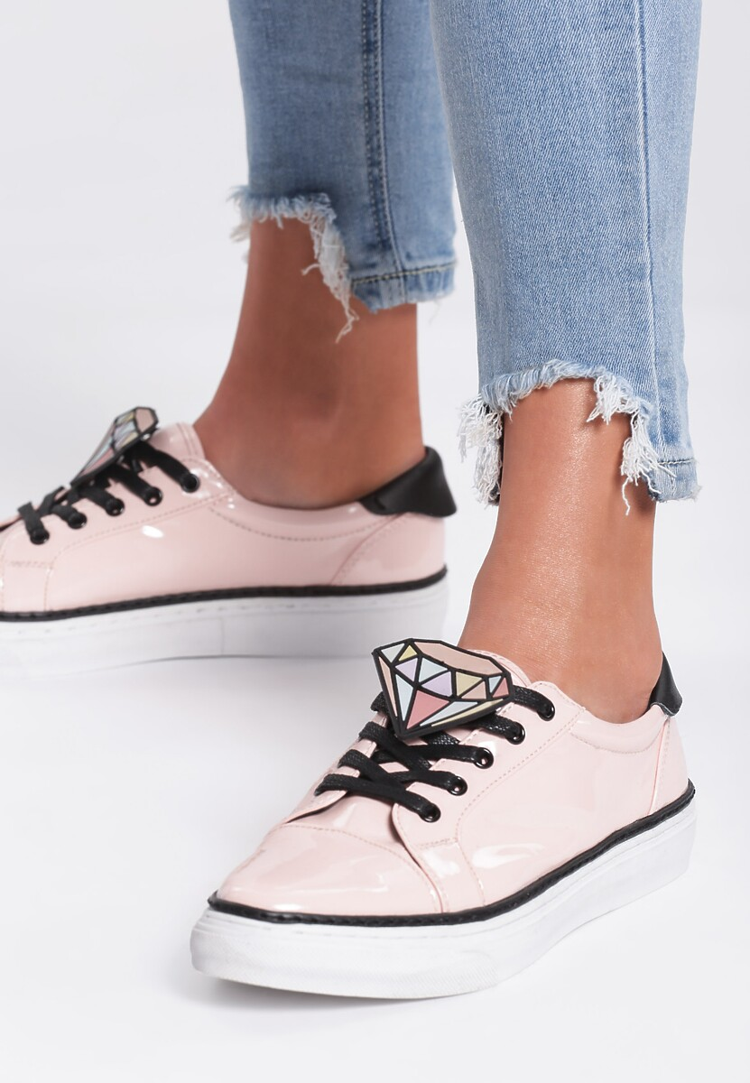 Różowe Buty Sportowe Grey Think