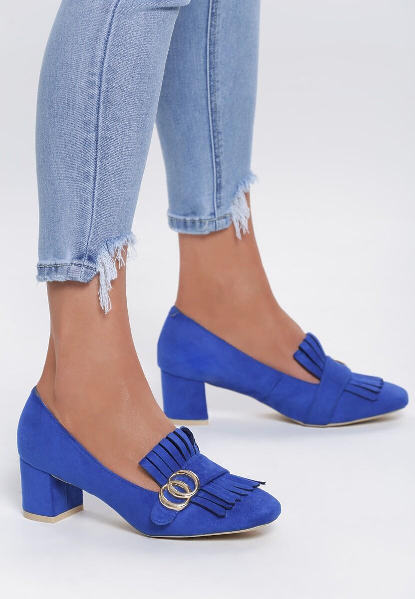 Niebieskie Czółenka Paisley