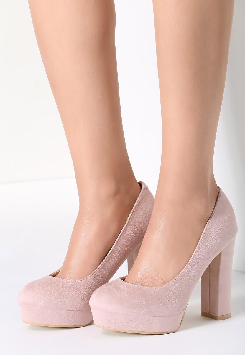 Różowe Czółenka Soft Cream