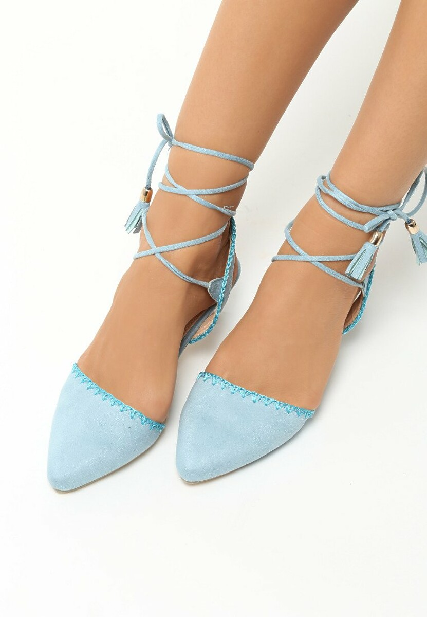 Niebieskie Sandały Stiletto