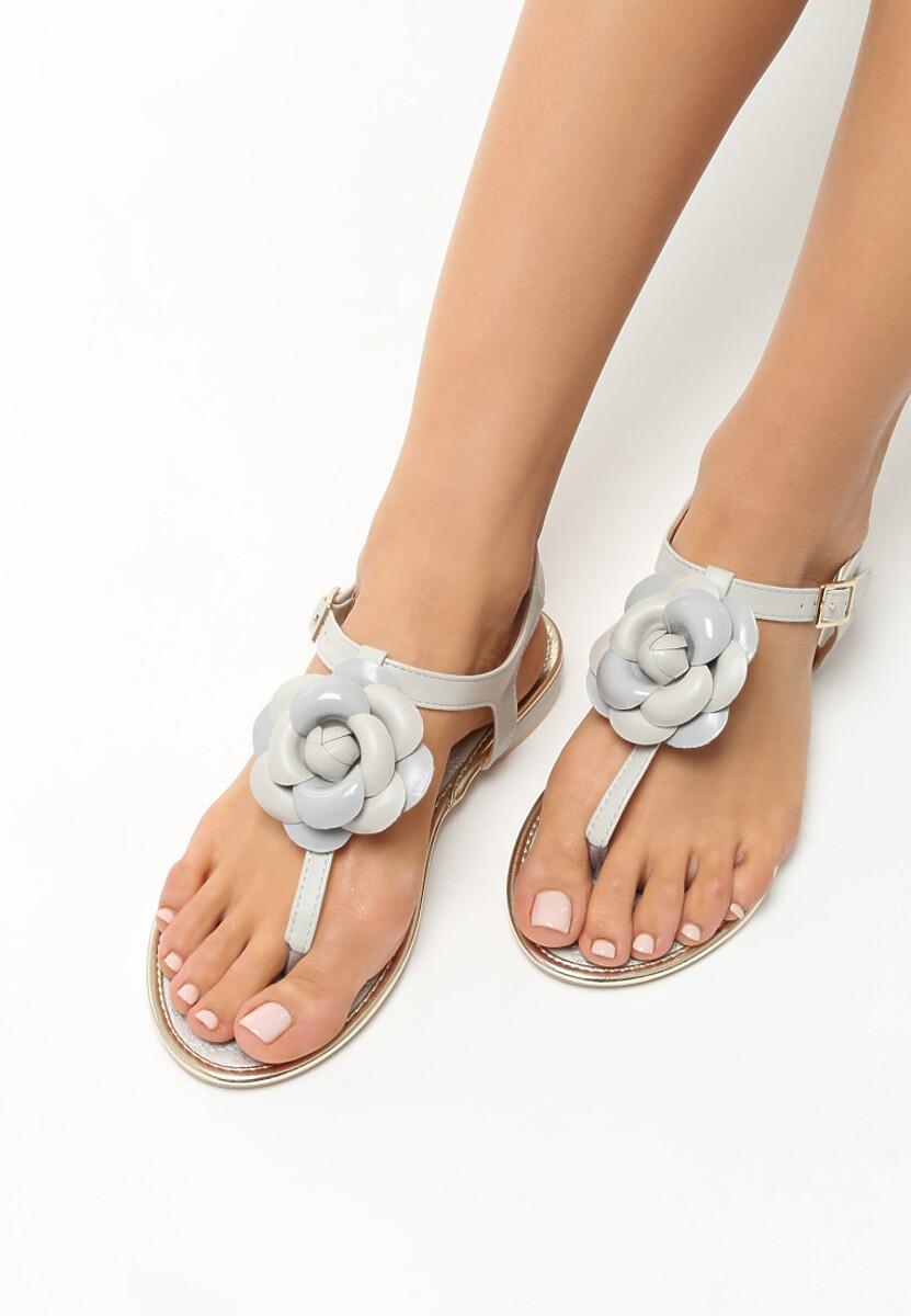 Szare Sandały Tangle