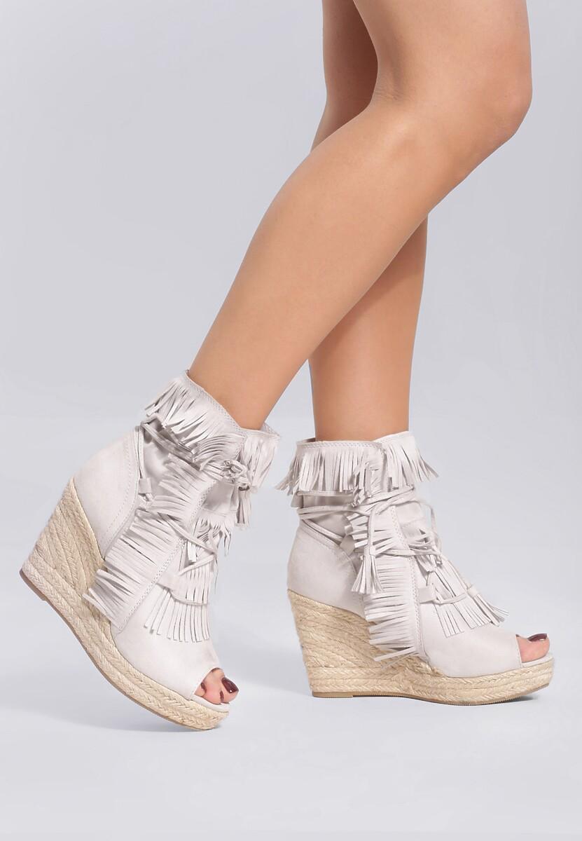 Jasnoszare Sneakersy Sheev