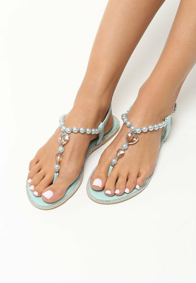 Niebieskie Sandały Elastic Heart