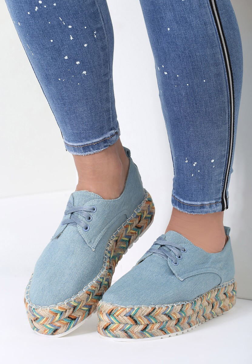 Jasnoniebieskie Espadryle Wings To Fly