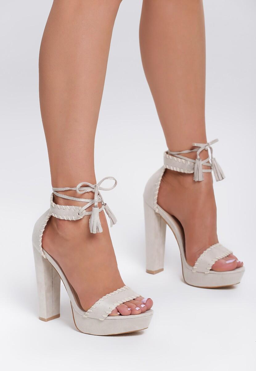 Beżowe Sandały Belong To Catwalk