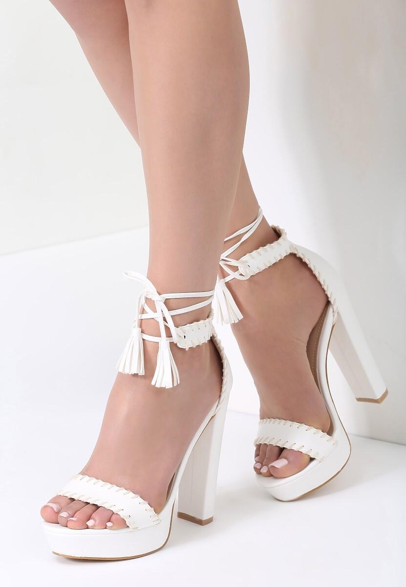 Białe Sandały Belong To Catwalk