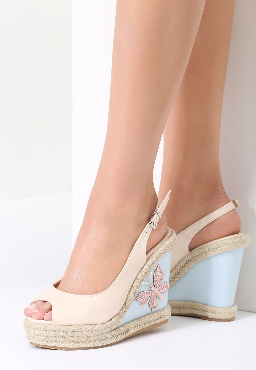 Beżowe Sandały Faster
