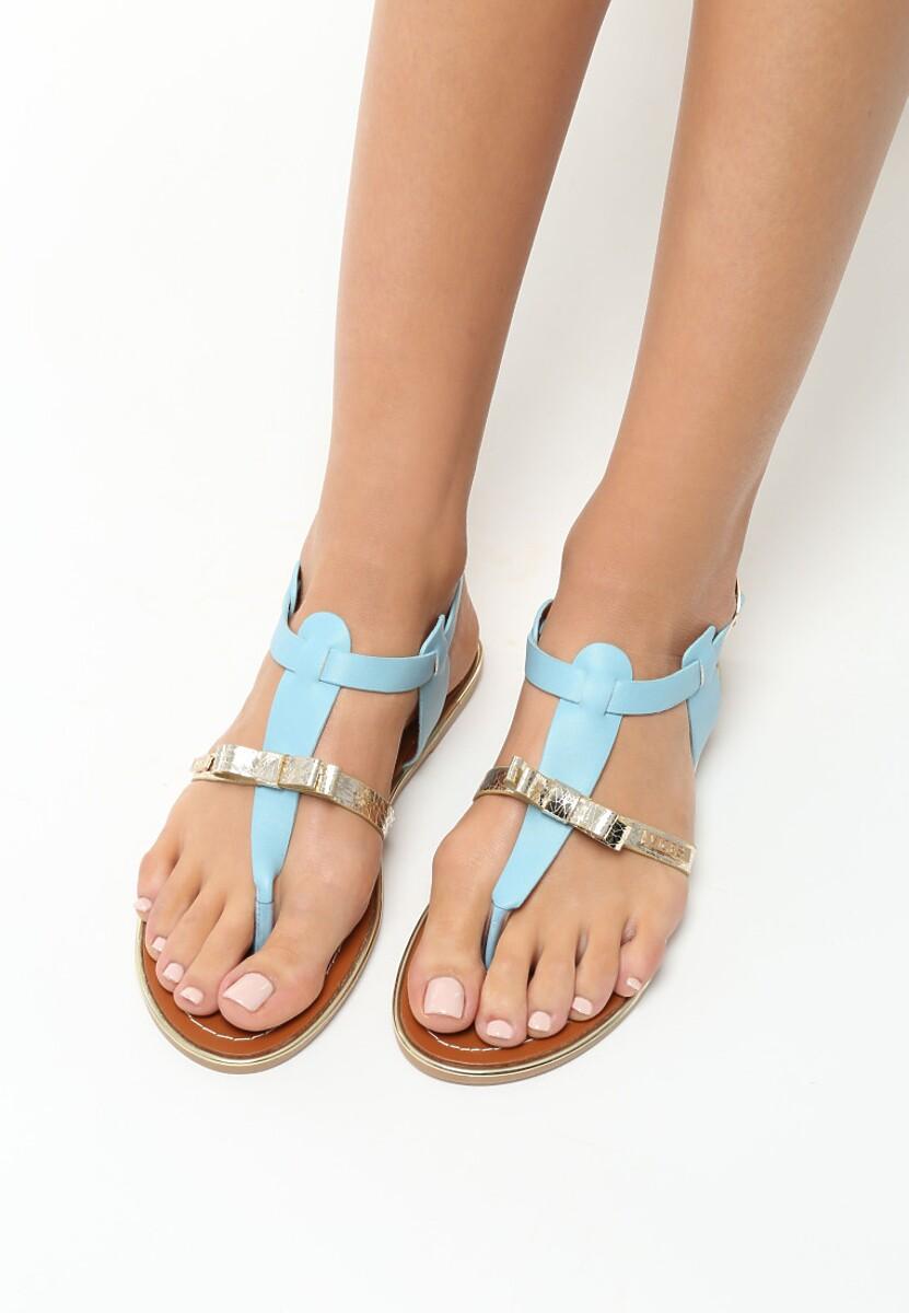 Niebieskie Sandały Fancy