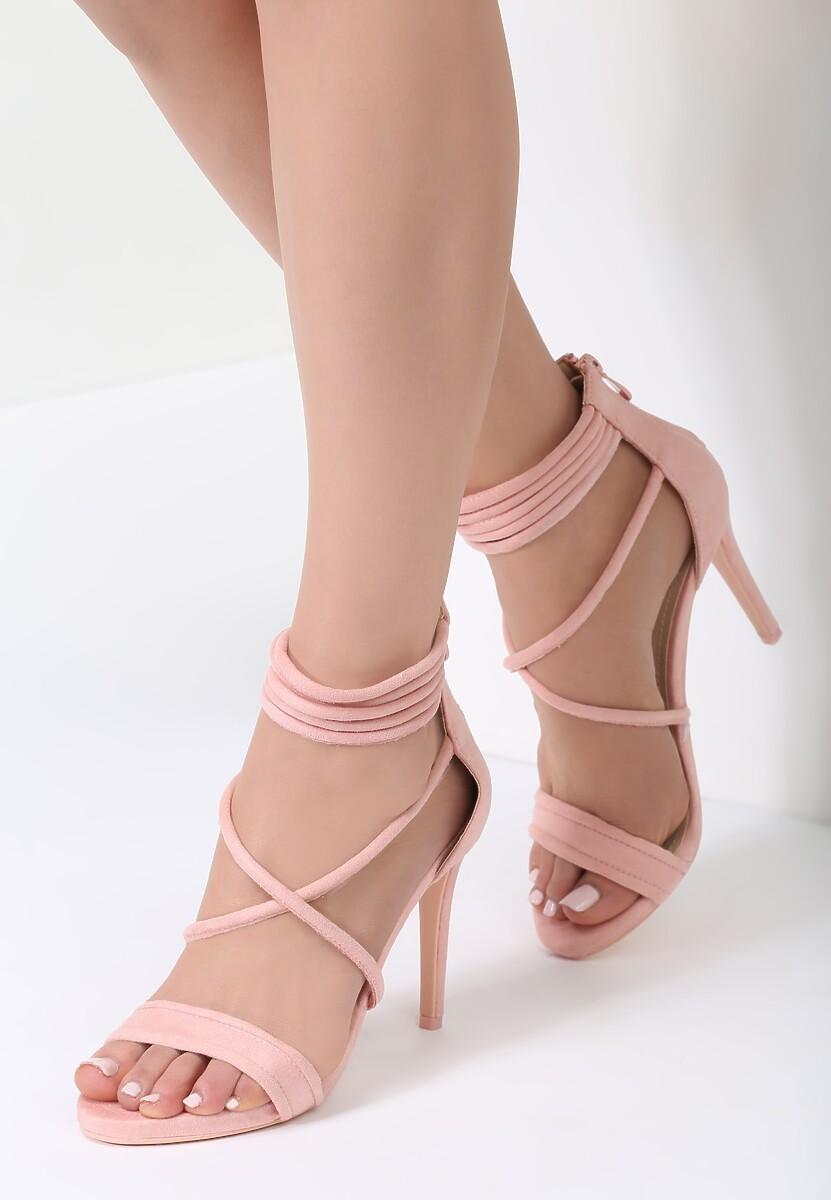 Różowe Sandały Not Words