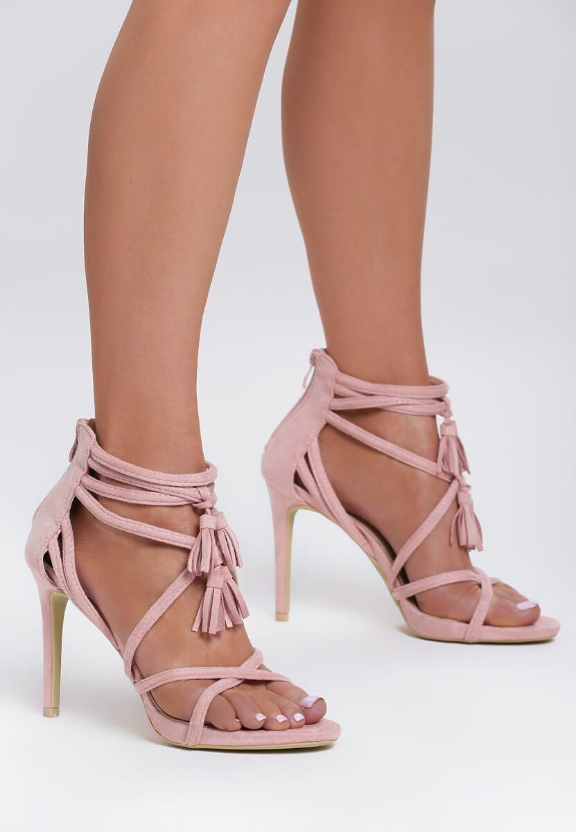 Różowe Sandały By Heart