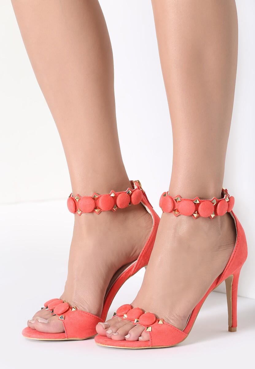 Pomarańczowe Sandały Trefoil