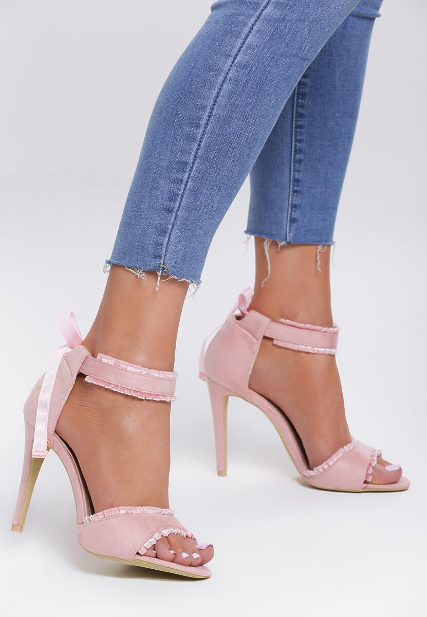 Różowe Sandały Heart Beat