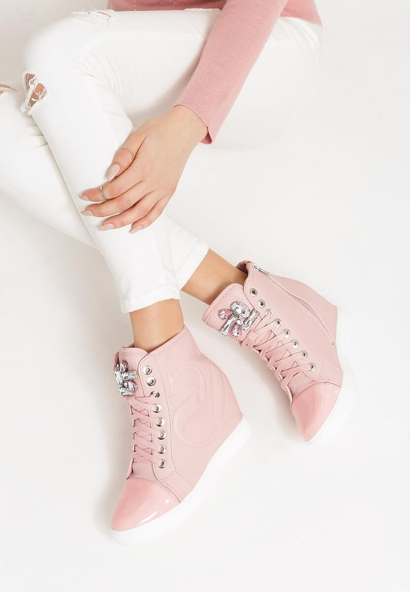Różowe Sneakersy Maroon