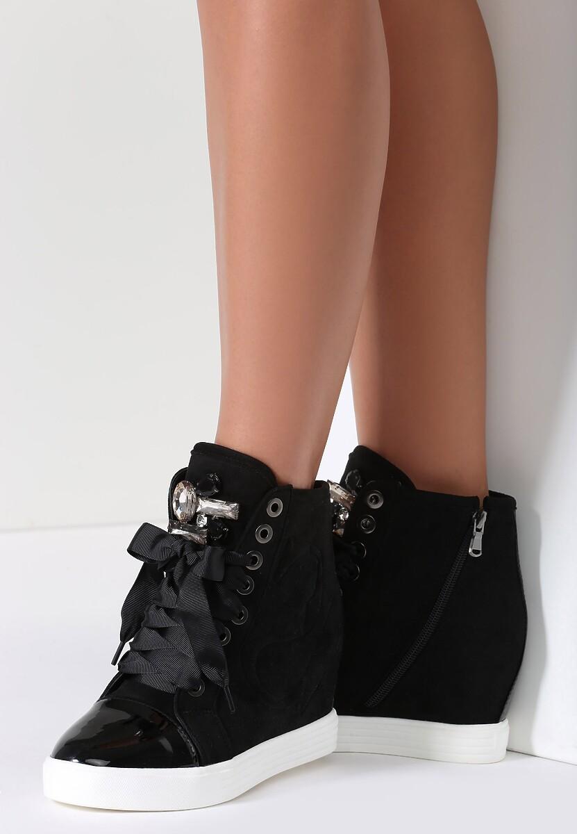 Czarne Sneakersy Amor