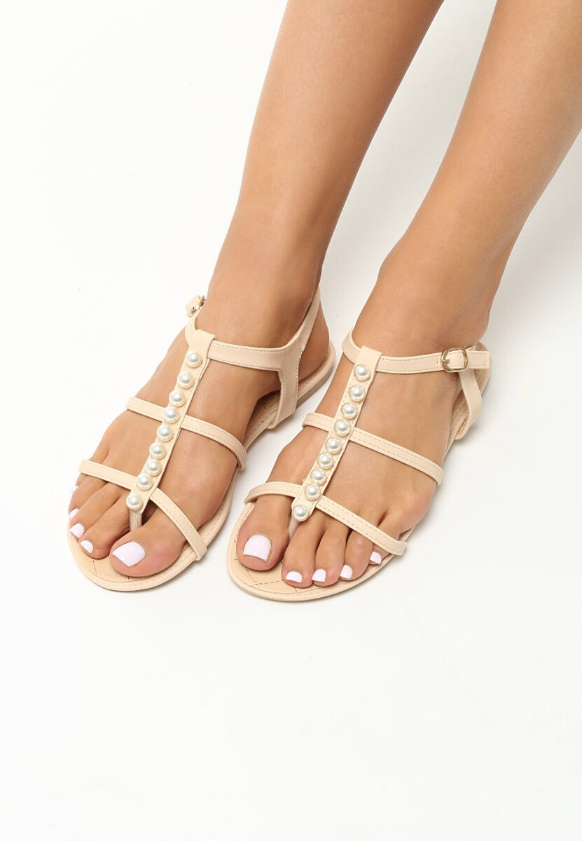 Beżowe Sandały Royals
