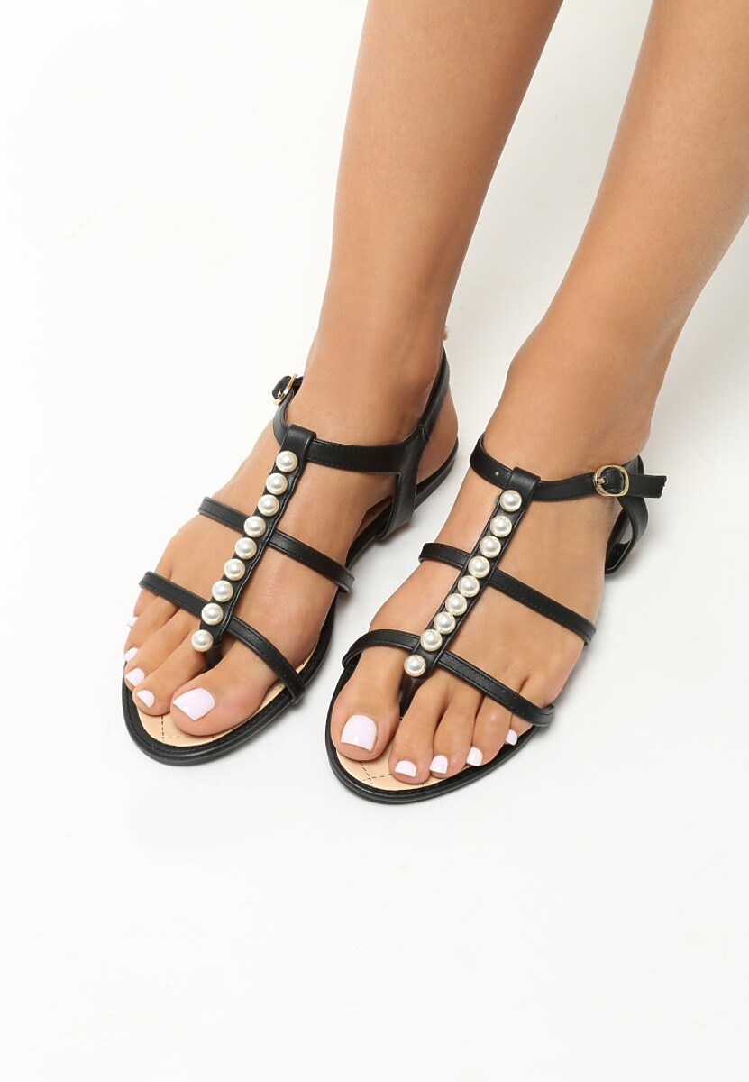 Czarne Sandały Royals