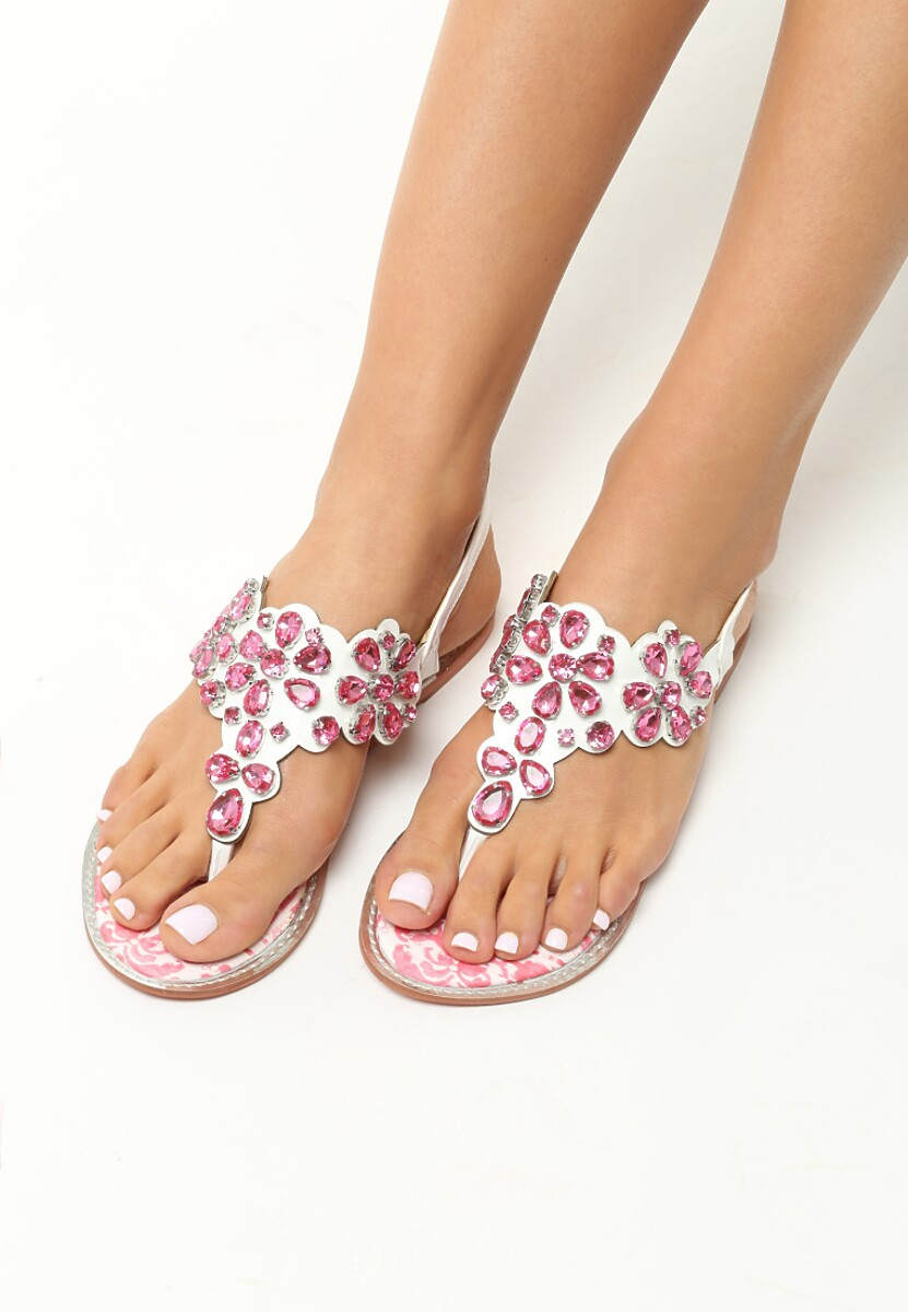 Różowe Sandały Newborn Sun