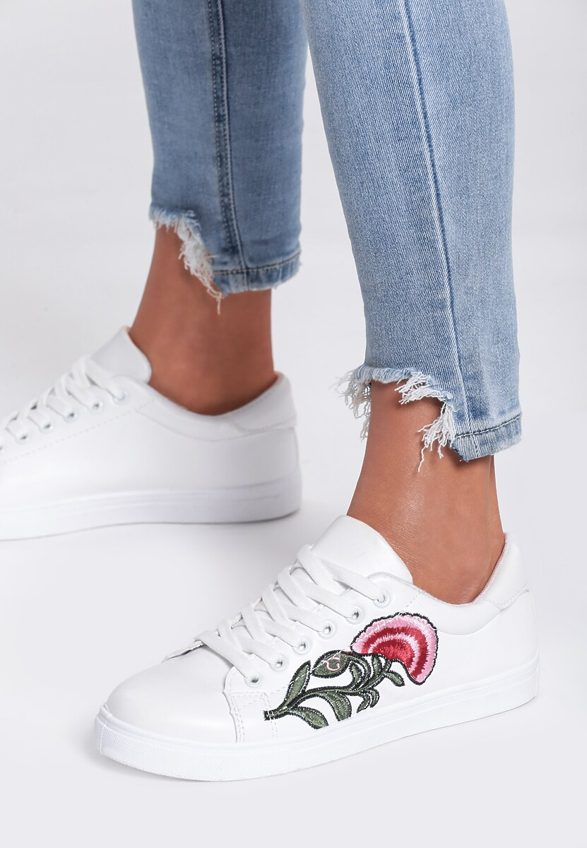 Białe Buty Sportowe Pinky Cheeks